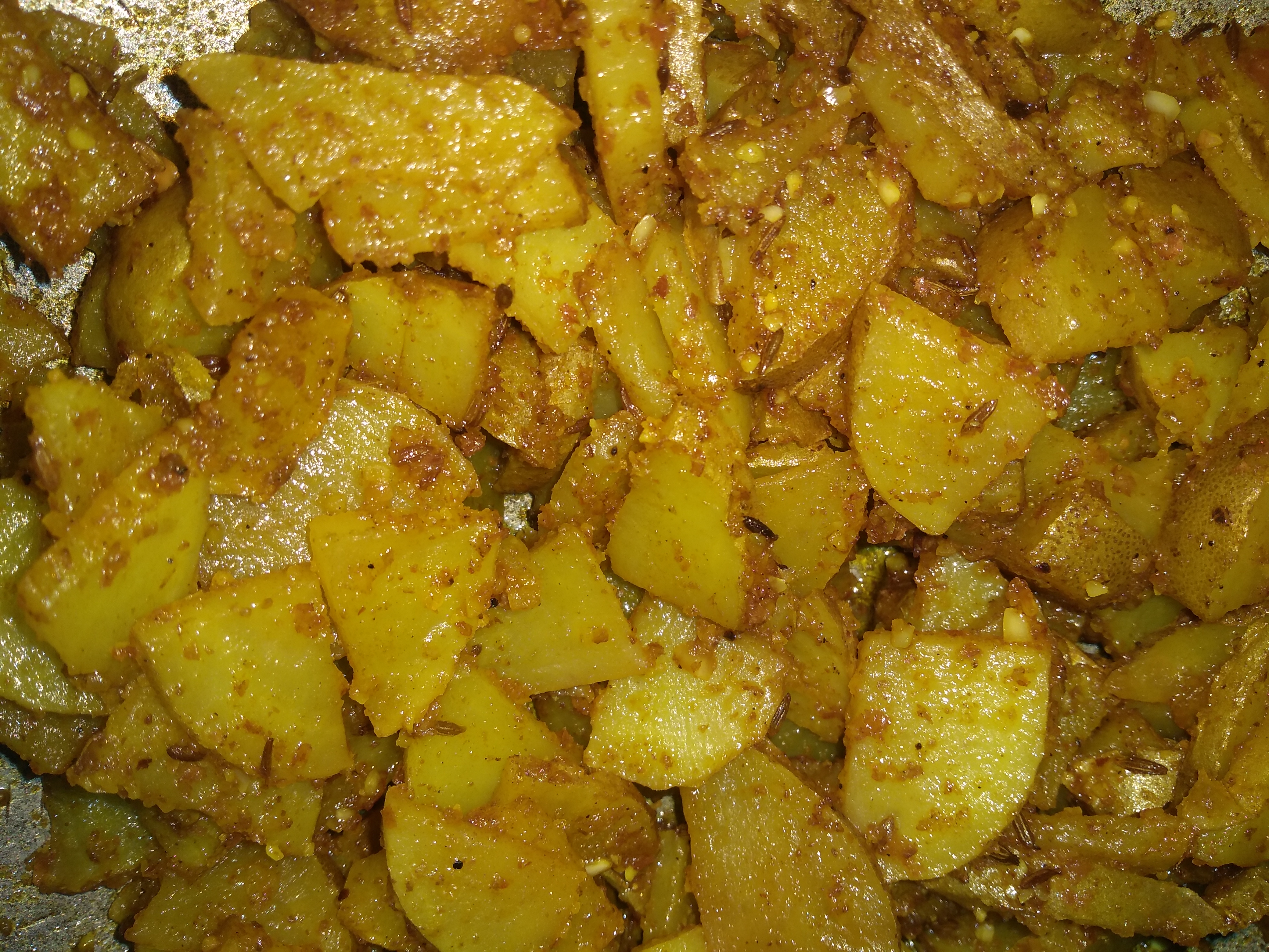 Dry Aloo Sabji-by-Rasoirecipes