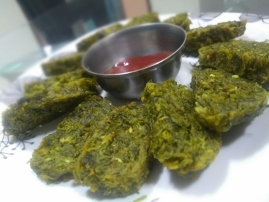 Maharashtrian Kothimbir or Coriander Vadi Recipe-by-Rasoirecipes